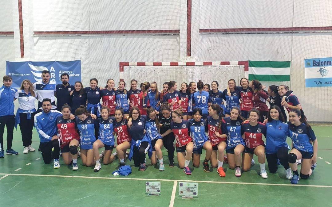 Nuestras cadetes, campeonas y subcampeonas de Sevilla