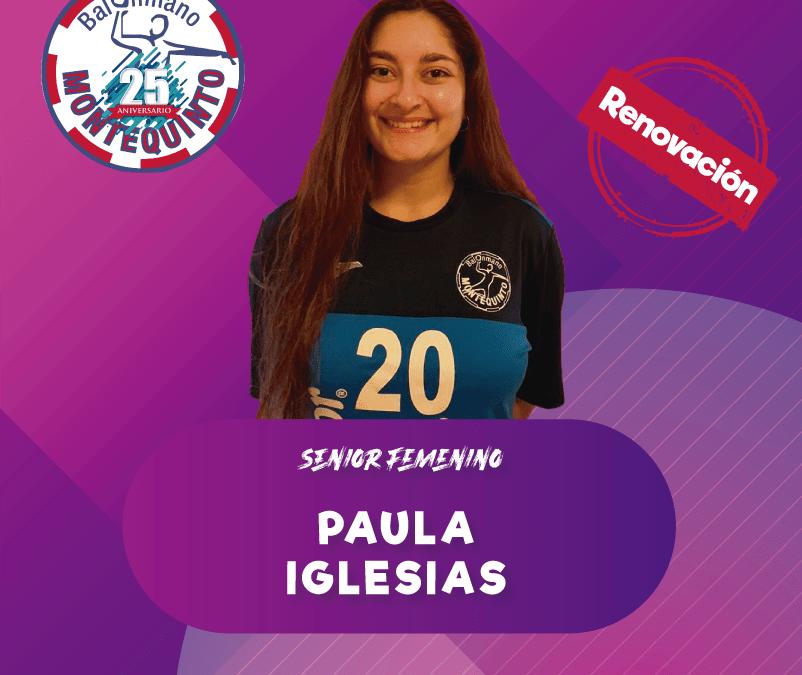 Paula Iglesias, objetivo hacer equipo.